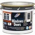 Быстросохнущая водорастворимая алкидная эмаль для окон и дверей (полуматовая)